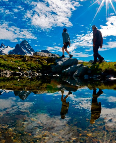 Get back in shape, hundreds of kilometers of treks under the gaze of Mont Blanc.