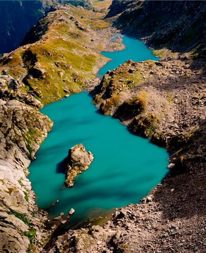 Lots of lakes to choose from for your treks: Lago d'Arpy, Lago di Pietra Rossa, Lake Verney and Lago del Ruitor.