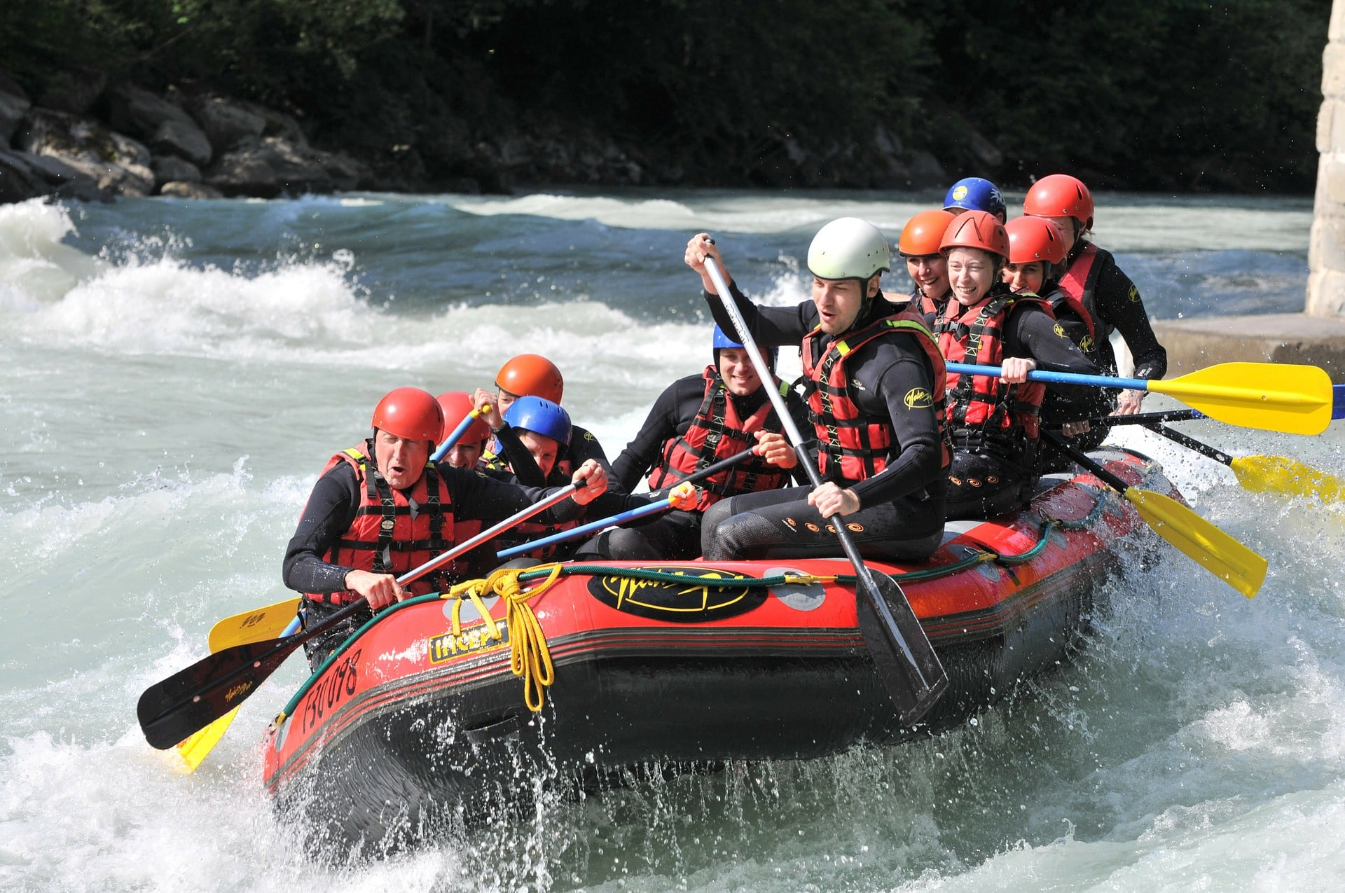 """For those looking for a bit more adventure enjoy an exciting and """"cool"""" experience on the Dora Baltea river, the confluence of various rivers and streams generated from the melting snow of Mont Blanc"""